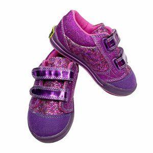 Western Chief Purple Glitter Velcro Sneakers